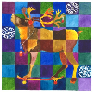 Reindeer | The reindeer is a design for a Christmas card for Petroc College.