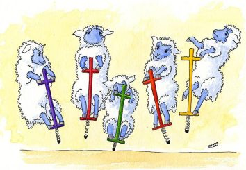 Pogo Sheep | Yet another from the book of verse.